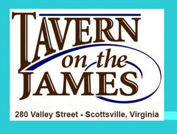 Tavern logo blue border